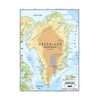 Murals Your Way - Greenland Wall Art - A map by EGLLC Maps, the Greenland wall mural from Murals Your Way will add a distinctive touch to any room