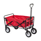 Pier Surplus - Red Utility Sports Folding Wagon / Storage Cart #GT25001 - As an easy solution for transporting heavy items around your house, indoors and outdoors, this folding wagon has nearly infinite uses. Built on a solid steel frame, it is covered in durable red polyester fabric. This handy wagon folds into its own carrying bag for convenient, compact transport and storage. It is definitely a home essential for everybody.