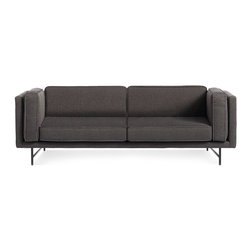 "Blu Dot - ""Blu Dot Bank 80"""" Sofa, Lava-Metal"" - ""Stately proportions, piped cushions and a generous seat depth will have you holding court. Choose either blackened metal or brass legs. Available in four fabrics options"""