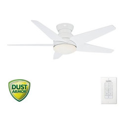 "Casablanca - Casablanca Isotope 52 Isotope 52"" 5 Blade Flush Mount Ceiling Fan - Blades, Ligh - Casablanca Isotope 52 Indoor Low Profile FanSuperior air circulation meets contemporary design in the CasablancaIsotope ceiling fan. With its low profile and wing-swept blade configuration, this sleek fan is an ideal choice for flush-mount installation in interiors with lower ceilings. It is available in two blade spans for maximum versatility and style.Casablanca Isotope 52 in Features:"