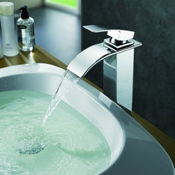 JollyHome - JollyHome Chrome Single Handle Bathroom Sink Faucet Silver - Solid brass construction for long durability.Complete parts and all install fittings are included.Easy to keep clean and maintain.Easy to install