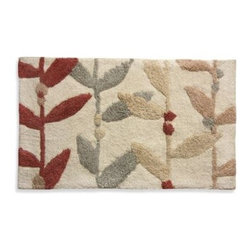 Bacova Guild, Ltd. - Lacey Multi-Colored Leaf Bath Rug - Add comfort and style to your bathroom with this lovely rug from Lacey. The clever leafy design of this rug is sure to complement your décor by bringing peaceful, neutral and floral colors into your space.