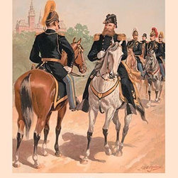 """Buyenlarge.com, Inc. - Brigadier-General, Staff & Line Officers (Full Dress)- Paper Poster 20"""" x 30"""" - Another high quality vintage art reproduction by Buyenlarge. One of many rare and wonderful images brought forward in time. I hope they bring you pleasure each and every time you look at them."""