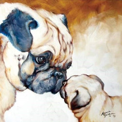 Westland - Two Pug Dogs Kissing Canvas Home Decorative Hanging Wall Art - This gorgeous Two Pug Dogs Kissing Canvas Home Decorative Hanging Wall Art has the finest details and highest quality you will find anywhere! Two Pug Dogs Kissing Canvas Home Decorative Hanging Wall Art is truly remarkable.