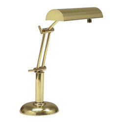 """House Of Troy - House Of Troy Transitional Halogen Piano/Desk Lamp X-BP-171-01HP - With 10 feet of black cord. Arm: 10.25"""""""