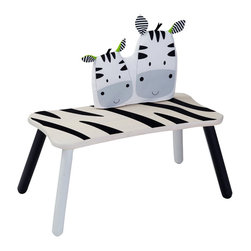 Wonderworld Zebra Long Bench - A seat for one or two — it doesn't matter, as this cute zebra bench will make any kid want to sit on it! I like that it was made using non-toxic paints, dyes and lacquers, and formaldehyde-free glue. Even the packaging is made from at least 70-percent-recycled paper.