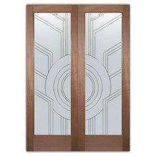 Eclectic Interior Doors by Sans Soucie Art Glass