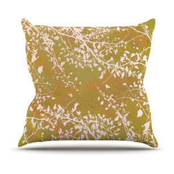 "Kess InHouse - Iris Lehnhardt ""Twigs Silhouette Neutral"" Earthy Throw Pillow (Outdoor, 20"" x 20 - Decorate your backyard, patio or even take it on a picnic with the Kess Inhouse outdoor throw pillow! Complete your backyard by adding unique artwork, patterns, illustrations and colors! Be the envy of your neighbors and friends with this long lasting outdoor artistic and innovative pillow. These pillows are printed on both sides for added pizzazz!"