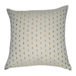 """Loom and Mill - Loom and Mill P0062-2020P 20"""" x 20"""" Dark Gray PolkaDot Decorative Pillow - Just need a little pop of color? This embroidered polka dot decorative pillow adds color and whimsy to your home decor. Spot clean only."""