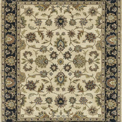 "Loloi Rugs - Loloi Rugs Maple Collection - Beige / Black, 3'-6"" x 5'-6"" - Transform your home into a manor steeped in elegance and tradition with the majestic Maple Collection. These timeless Persian designs carry the rich heritage of centuries of carpet making in each arabesque, stylized flower and intricate border. Maple Collection rugs are hand-tufted in India of 100-percent wool so they are eco-friendly and mindfully crafted with sustainable materials. With colors as rich as these, you will feel like nobility every time you walk into your home."