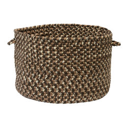 """Colonial Mills - Belmont Storage Basket - Grain, 14"""" x 10"""" - Organize magazines, yarns, toys or towels at the pool with this multi-grain braided storage basket. Made in the USA of durable polypropylene and built for indoor or outdoor use."""