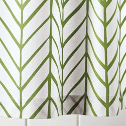 Serena & Lily - Clover Feather Shower Curtain - Our take on timeless herringbone and chevron patterns, printed lines are loosely rendered for that extra design element. Mix or match with our signature bath towels and have fun finding your own fresh combos of patterns and colors.