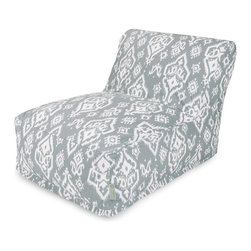 Majestic Home Goods - Gray Raja Bean Bag Chair Lounger - Add style and functionality to your living room, family room or game room with the Majestic Home Goods Raja bean bag chair lounger. This beanbag chair has the design of modern furniture, while still giving the comfort of a classic bean bag. Woven from cotton duck or twill, these loungers are durable yet comfortable. The beanbag inserts are eco-friendly by using up to 50% recycled polystyrene beads, and the removable zippered slipcovers are conveniently machine-washable. Wash in cold water with a mild detergent such as Wool-Lite and hang dry. Wash in cold water with a mild detergent such as Wool-Lite and hang dry.