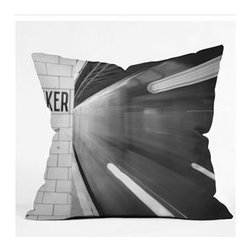 "DENY Designs - Leonidas Oxby The Subway Throw Pillow - Wanna transform a serious room into a fun, inviting space? Looking to complete a room full of solids with a unique print? Need to add a pop of color to your dull, lackluster space? Accomplish all of the above with one simple, yet powerful home accessory we like to call the DENY Throw Pillow! Features: -Leonidas Oxby collection. -Material: Woven polyester. -Sealed closure. -Spot treatment with mild detergent. -Made in the USA. -Closure: Concealed zipper with bun insert. -Top and back color: Print. -Small dimensions: 16"" H x 16"" W x 4"" D, 3 lbs. -Medium dimensions: 18"" H x 18"" W x 5"" D, 3 lbs. -Large dimensions: 20"" H x 20"" W x 6"" D, 3 lbs."