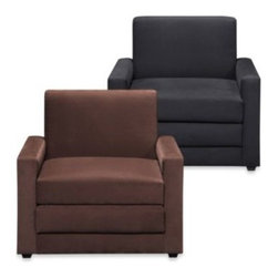 Dorel - Dorel Single Seater/Sleeper - The Single Seater/Sleeper, upholstered in faux leather, offers a thoughtful, space-saving solution to meet your needs. When not used as a comfy resting spot, the sleeper chair pulls out to convert into a single bed sleeper.