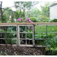 Dishfunctional Designs: The Upcycled Garden: Using Recycled Salvaged Materials I