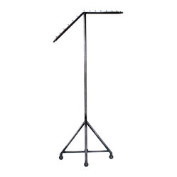 Slant Arm Rolling Garment Rack