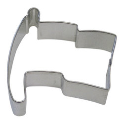 RM - Flag 3 In.  B1179X - Flag cookie cutter, made of sturdy tin, Size 3 in., Depth 7/8 in., Color silver