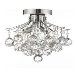 Gallery - Gallery T40-388 French Empire 4 Light 1 Tier Crystal Mini Chandelier with Clear - Features: