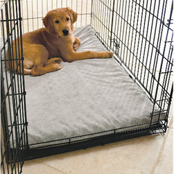 Grandin Road - Dog Crate Mats - Our Dog Crate Mats support pooches comfortably with a two-inch orthopedic foam insert. A moisture-resistant, micro-velveteen cover unzips for machine-washing. Imported.