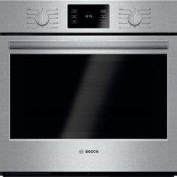 "Bosch - 500 Series HBL5451UC 30"" Single Electric Wall Oven with 4.6 Cu Ft. Capacity  Gen - The 500 series 30 single wall oven from Bosch features genuine European convection which allows food to be cooked more evenly in up to 30 less time by optimizing heat circulation It also features heavy-duty metal knobs which offer a premium European ..."
