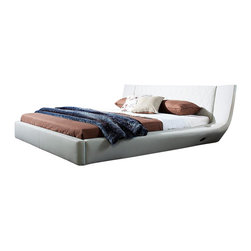 VIG Furniture - Arctic - Modern Bed With Speakers and Iphone Audio Dock, Cal. King - USB, Bluetooth, SD card, cell phone plug & Iphone solution