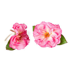 Rose Napkin Rings, Set of 2 - Flower napkin rings are too much. They're beautiful and will bring nature and color to your table. They'll even look great with stripes, floral or solid table runners and tablecloths.