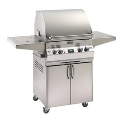 "Fire Magic - Aurora A530s2A1P62 Stand Alone LP Grill with Single Side Burner - A530 Stand Alone Grill with Single Side Burner, Rotisserie Backburner, Grill Light & Infrared Burner System A530s Features: Cast stainless steel ""E"" burners - guaranteed for life"