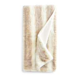 """Horchow - Iced Mink Couture Faux-Fur Throw - ICED MINK - Iced Mink Couture Faux-Fur ThrowDetailsThrow made of acrylic faux-fur; lined with incredibly soft polyester velvet.Machine wash; fluff dry.Size varies; approximately 55"""" 60"""" x 75"""".Imported."""