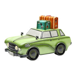 ATD - 12 Inch Road Trip Car with Suitcases Design Cookie Jar, Green - This gorgeous 12 Inch Road Trip Car with Suitcases Design Cookie Jar, Green has the finest details and highest quality you will find anywhere! 12 Inch Road Trip Car with Suitcases Design Cookie Jar, Green is truly remarkable.