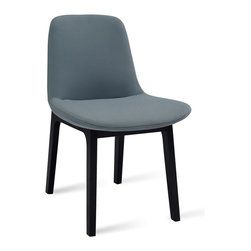 Bryght - 2 x Aurora Jade Dining Chair - It's all in the details. The Aurora dining chair is a delectable piece with beautiful double stitched seams and an encapsulating leg design. Injection molded foam seat and back ensures long term durability. Available in a wide array of colors.