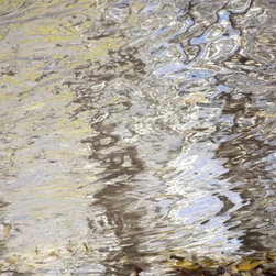 "Avalon Nature Photography - ABSTRACT NATURE XI: Modern Photography, 52"" X 38"" X1.5"" - Abstract Nature XI: Clear Water Reflection."
