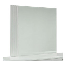Standard Furniture - Standard Furniture Action Rectangular Mirror in White - A combination of smooth and textured white surfaces on clean square profiles creates actions distinctive modern look.