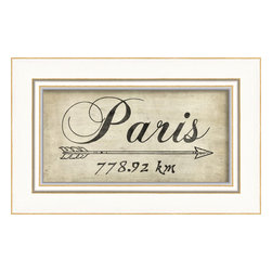 The Artwork Factory - 'Paris' Print - Bistros, Bordeaux and berets this way. This pleasing print is just what the doctor ordered to remind you of your dream vacation. Hang it up and book your flight.