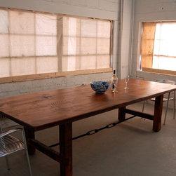 Farm Table with Turnbuckle - Farm Table with Decorative Turnbuckle