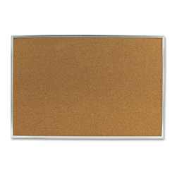 Quartet - Quartet 36 x 24 in. Cork Bulletin Board with Aluminum Frame Multicolor - MEA8536 - Shop for Bulletin Boards from Hayneedle.com! The Quartet 36 x 24 in. Cork Bulletin Board with Aluminum Frame is durable as well as elegant. Made from natural cork material with an anodized aluminum frame it s durable and visually appealing. This board can firmly hold pushpins and is self-healing which makes it long lasting. As a functional accessory this board can be used to display information in break rooms or on factory floors etc. For easy installation this bulletin board comes with a secure mounting system.About United StationersDedicated to making life in the office more organized efficient and easier United Stationers offers a wide variety of storage and organizational solutions for any business setting. With premium products specifically designed with the modern office in mind we're certain you will find the solution you are looking for.From rolling file carts to stationary wall files every product in the United Stations line is designed with one simple goal: to improve office efficiency. In turn you will find increased productivity happier more organized employees and an office setting that simply runs better with the ultimate goal of increasing bottom line profits.