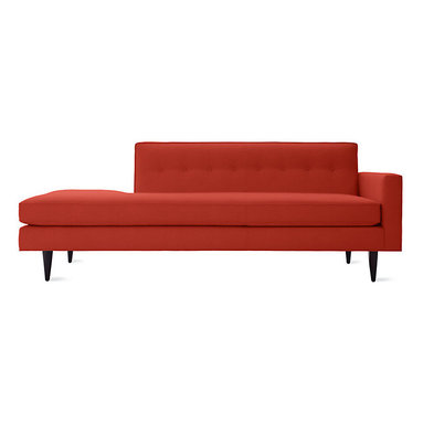 Bantam Studio Sofa, Right   Design Within Reach - Highlight a love of clean lines with a bright pop of crimson red. The one-arm styling adds to the midcentury modern vibe, keeping seating arrangements open and inviting.