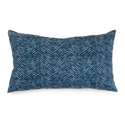 Majestic Home Goods - Navy Navajo Small Pillow - Add a splash of color and a little texture to any environment with these great indoor/outdoor plush pillows by Majestic Home Goods. The Majestic Home Goods Navajo pillow will add additional comfort to your living room sofa or your outdoor patio. Whether you are using them as decor throw pillows or simply for support, Majestic Home Goods pillows are the perfect addition to your home. These throw pillows are woven from outdoor treated polyester with up to 1000 hours of U.V. protection, and filled with Super Loft recycled polyester fiber fill for a comfortable but durable look. Spot clean only.