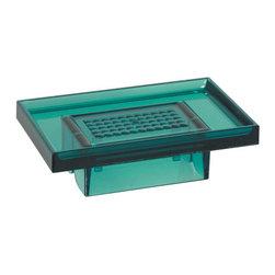 Modo Bath - Lem K830P Wall Soap Holder in Green - Lem K830P, 5.7 x 3.5 x H 1.8, Wall Soap Holder, in Green