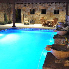 Mediterranean Swimming Pools And Spas by Fountains Unique