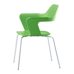 Radius Design - MU Stacking Chair, Green - Smooth lines, aesthetics and robustness.
