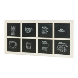 """Hammary - Heartland Chalkboard - """"A truly comfortable, farm house styled collection with a vintage appeal. Heartland can fit easily in today's eclectic home settings. Crafted of Wire Brushed Pine Veneers & Paint Grade Solids in a time-worn white finish with Smoky Brown tops & Oiled Bronze Hardware."""
