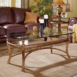 "Hammary - Suffolk Bay Rectangular Cocktail Table in Tortoise Shell Color Finish - ""The best ideas in designs from around the world - combined with the finest materials available - meet in this new collection to create an unforgettable look for your home."