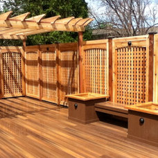 Traditional Patio by Forest Fence & Deck Co Ltd.