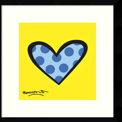 Amanti Art - Romero Britto 'Bee Bop Love' Framed Art Print 12 x 12-inch - Bring in bright colors and playful design to your decor with this fun accent piece, Bee Bop Love by Romero Britto.