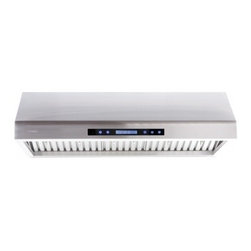 "Cavaliere - Cavaliere Euro AP238-PS61 Under Cabinet Range Hood - 30"" - Cavaliere Stainless Steel 260W Under Cabinet Range Hoods with 4 Speeds, Timer Function, LCD Keypad, Stainless Steel Baffle Filters, and Halogen Lights."