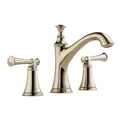 "Brizo - Brizo 65305LF-PNLHP Polished Nickel Baliza Baliza Bathroom Faucet - Baliza Low Lead Compliant WaterSense Double Handle Widespread Bathroom Faucet Less HandlesA stunningly fresh perspective on traditional feel inspired by the timeless beauty of lighthouses. Metal pop-up included. Spout features water-efficient aerator.Faucet Features:Two handle lavatory faucet for concealed mounting on 3 hole applications.Widespread - 6"" (152mm) to 16"" (406 mm) centers.5 5/16"" (135 mm) long, 6 1/2 (165 mm) high rigid spout.LHP - Less Handle Program.  See handle options below.Control mechanism shall be of the rotating ceramic cylinder type with 90- (1/4 turn) rotation.Metal drain with pop-up type fitting with plated flange and stopper.Accommodates up to 3"" deck thickness.Maximum flow rate 1.5 gpm @ 60 PSI.Faucet Specifications:ADA Compliant: YesLow Lead Compliant: YesWaterSense Certified: YesOverall Height: 6.5""Width: 2.25""Spout Height: 4.3125""Spout Reach: 5.3125""Faucet Centers: 6"" - 16""Faucet Holes: 3Flow Rate (GPM): 1.5Product Weight: 3.250 lbs.Number Of Handles: 2Handles Included: NoDrain Assembly Included: YesEscutcheon Included: NoMounting Type: WidespreadValve Included: YesValve Type: Ceramic DiscBrizo Faucet TechnologiesADA Compliant: Some people, and some local codes, require fixtures that are compliant with the Americans with Disabilities Act.WaterSense: The WaterSense label signifies Brizo s commitment to working with the Environmental Protection Agency (EPA) to encourage the efficient use of water and actively protect the future of our nation s water supply. WaterSense labeled faucets use 20% less water and perform as well or better than their less efficien"
