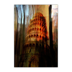 """READY2HANGART.COM - Ready2hangart Alexis Bueno 'Tower of Pisa' Canvas Wall Art - Artist Alexis Bueno, takes you through the various Wonders of the World with his series One World. The abstract rendition in canvas art is offered as part of a limited """"Home Decor"""" line."""