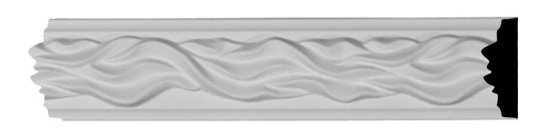 """Ekena Millwork - 2""""H x 3/4""""P x 94 1/2""""L Baroque Panel Moulding - 2""""H x 3/4""""P x 94 1/2""""L Baroque Panel Moulding. Our beautiful panel moulding and corners add a decorative, historic feel to walls, ceilings and furniture pieces- They are made from a high-density urethane which gives each piece the unique details that mimic that of traditional plasting and wood designs but at a fraction of the weight- This means a simple and easy installation for you- The best part is that you can make your own shapes and sizes by simply cutting the moulding pieces down to size and then butting them up to the decorative corners- These are also commonly used for an inexpensive wainscot look-Features- Modeled after original historical patterns and designs-- Constructed from solid urethane for maximum durability and detail-- Lightweight for quick and easy installation-- Factory-primed and ready for paint or faux finish-- Can be cut, drilled, glued and screwed-- Designed for use on both interior and exterior applications-- Material- Urethane"""