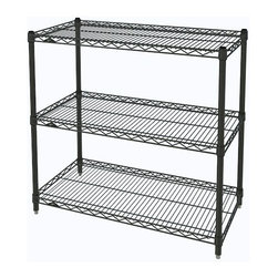 InterMetro Industries - Metro Shelving Unit - 48x18x33 - As the original wire storage shelving system and still the industry leader, Metro shelving continues to evolve and aims to meet the diversity of todays storage challenges. These professional grade units hold more weight. The three (3) shelves can be positioned, or re-positioned, at precise 1 increments along the length of the posts.  Open wire design minimizes dust accumulation and allows for free circulation of air and greater visibility of stored items. Casters (sold separately) available for mobile applications. This post-based shelving system, created in 1965, is recognized worldwide as the most popular commercial shelving system ever.  Assembly required